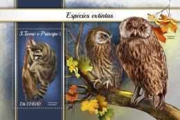 SAO TOME 2018 MNH** Extinct Species Ausgestorbene Tiere Espèces Disparues S/S - OFFICIAL ISSUE - DH1816 - Postzegels