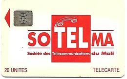 @+ Mali - SOTELMA Logo Orange - 20U - 5 N° Emb (40750) - Ref : MAL-O-08 - Mali