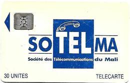 @+ Mali - SOTELMA Logo Bleu - 30U SC4 (Rare) - 5 N° Emb (40724) - Ref : MAL-O-09 - Mali