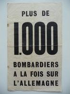 WWII WW2 Tract Flugblatt Propaganda Leaflet In French, PWE F Series/1942, F.66, PLUS DE 1.000 BOMBARDIERS A LA FOIS SUR - Vieux Papiers
