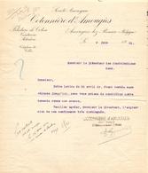 Brief Lettre - Cotonnière D' Amougies  à Gand 1922 - Vieux Papiers