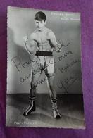 PHOTO BOXE DEDICACEE : ROBBES Yann, Poids Plume, Professeur Fairier - Boxing
