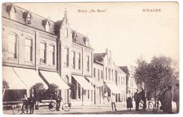 Schagen - Hotel De Roos Met Volk - 1919 - Schagen