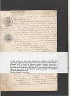 1864 Juge De Paix Dozulé Et L.H. Cantet Huissier Annebault,familles Godard Beaumont En Auge & Sevestre à Brocottes 14 - Manoscritti
