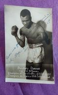 PHOTO BOXE DEDICACEE : BOUKARY DJASSO, Champion De Côte D'Ivoire, Champion De France 1958 - Boxing