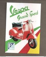 VESPA GRAND SPORT  PIAGGIO RIPRODUZIONE CARTOLINA CARD PUBBLICITARIA - Motor Bikes