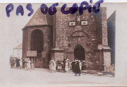 CARNAC - SORTIE DE MESSE DE L'EGLISE St-CORNELY - SUPERBE CARTE PHOTO - Carnac