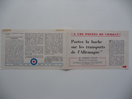 "WWII WW2 Tract Flugblatt Propaganda Leaflet In French, PWE F Series/1942, F.120, ""A VOS POSTES DE COMBAT! - Oude Documenten"