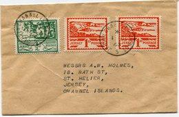 JERSEY OCCUPATION ALLEMANDE LETTRE DEPART JERSEY CHANNEL ISLANDS 1 JU 43 POUR JERSEY - Jersey