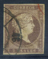 Spagna 1856 Mi. 42 Usato 20% 2 R, Regina Isabella - 1850-68 Kingdom: Isabella II