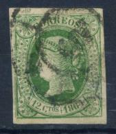 Spagna 1864 Mi. 57 Usato 100% 12 Cs, Regina Isabella - 1850-68 Kingdom: Isabella II