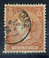 Spagna 1866 Mi. 75 Usato 100% 12 Cs, Regina Isabella - 1850-68 Kingdom: Isabella II