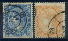 Spagna 1867 Mi. 81-82 Usato 100% Regina Isabella - 1850-68 Kingdom: Isabella II