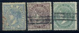Spagna 1868 Mi. 92-93,95 Usato 80% Regina Isabella - 1850-68 Kingdom: Isabella II