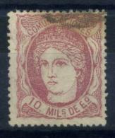 Spagna 1870 Mi. 99 Usato 100% 10 M, Spagna - 1868-70 Provisional Government