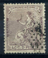 Spagna 1873 Mi. 130 Usato 80% Spagna Seduta, 40 C - 1873 1st Republic