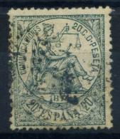 Spagna 1874 Mi. 138 Usato 100% 20 C, Allegoria Della Giustizia - 1873-74 Regency