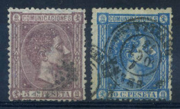 Spagna 1875 Mi. 147,148 Usato 40% Re Alfonso XII - Used Stamps