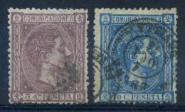 Spagna 1875 Mi. 147,148 Usato 40% Re Alfonso XII - 1875-1882 Kingdom: Alphonse XII