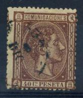 Spagna 1875 Mi. 151 Usato 100% 40 C, Re Alfonso XII - 1875-1882 Kingdom: Alphonse XII