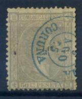 Spagna 1875 Mi. 152 Usato 80% 50 C, Re Alfonso XII - 1875-1882 Kingdom: Alphonse XII