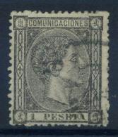 Spagna 1875 Mi. 153 Usato 80% 1 Pta, Re Alfonso XII - 1875-1882 Kingdom: Alphonse XII