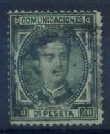Spagna 1876 Mi. 158 Usato 100% 20 C, Re Alfonso XII - 1875-1882 Kingdom: Alphonse XII