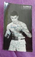 PHOTO BOXE DEDICACEE : GONZALEZ Michel, Champion De France 1958, Professeur R. Jansen - Boxing