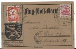 G-F020a / Flugpost Rhein-Main 1912, Offenbach Nach Paris - Allemagne