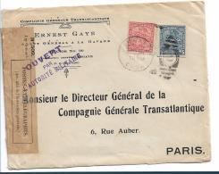 Cu003a / Zensierter Brief Aus Cuba 1915 - Kuba