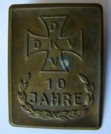 Original Abzeichen Mit Eisernem Kreuz, 10 Jahre DKV -. Kriegerbund - Allemagne