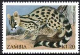 Zambia - 1991 Small Carnivores K1.20 Genet (**) # SG 643 , Mi 540 - Zambie (1965-...)