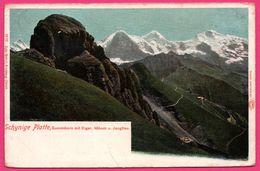 Schynige Platte - Gummihorn Mit Eiger - Mönch U. Jungfrau - WEHRIL - Auto Chrom LOUIS GLASER - Colorisée - BE Berne