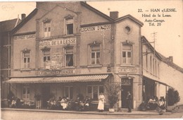 HAN SUR LESSE.HOTEL DE LA LESSE.AUTO- GARAGE. Tel 20. - Belgio