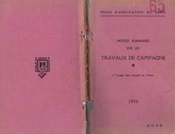 MANUEL MILITAIRE De 1954 NOTICE SOMMAIRE SUR LES TRAVAUX DE CAMPAGNE - Equipement