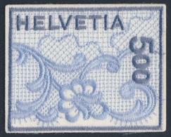 Switzerland Schweiz Suisse 2000 Mi 1726 YT 1654 ** St. Gallen Embroidery / St. Galler Stickerei - Stickgarn Auf Satin - Textiel