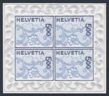 Switzerland Schweiz Suisse 2000 Mi 1726 YT 1654 Klb ** St. Gallen Embroidery / St. Galler Stickerei- Stickgarn Auf Satin - Textiel