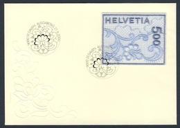 Switzerland Schweiz Suisse 2000 FDC + Mi 1726 YT 1654 - St. Gallen Embroidery/ St. Galler Stickerei- Stickgarn Auf Satin - Textiel