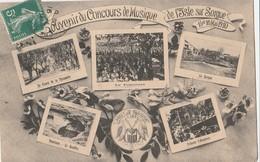 CPA   84 L'ISLE SUR LA SORGUE  SOUVENIR CONCOURS MUSIQUE 1910 - L'Isle Sur Sorgue