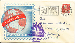 Denmark Cover With Air Mail Cachet Svendborg 13-8-1953 Nice Cover - Covers & Documents