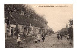 En Berry. Sens Beaujeu. Route De La Chapelotte. Enfants. Maison Berrichonne. (2733) - Autres Communes