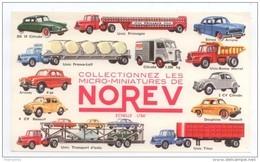 BUVARD NOREV MICRO MINIATURES VOITURES RENAULT 4CV PEUGEOT CITROEN DS 2CV  CAMION TRANSPORT UNIC TUBE CITROEN HY...TBE - Automotive