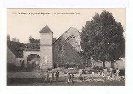 En Berry. Soye En Septaine. La Place Et L'ancienne église. Travaux De Rénovation. (2734) - France