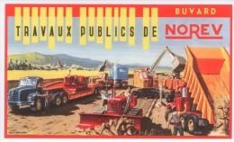 BUVARD TRAVAUX PUBLICS CHANTIER NOREV CAMION BENNE TRANSPORTEUR PELLETEUSE BULLDOZER TBE - Automotive