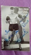 PHOTO BOXE DEDICACEE : LEULLIER Daniel, Professionnel, Poids Moyen. Studio Mari Sports. - Boxing