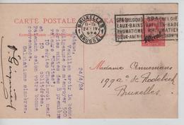 Entier CP 19b Paquebot C.méc BXL 24/4/1924 écrit Par Marchand De TP Gisquière V.E/V - Stamped Stationery