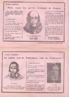 Buvard Politique Lorulot Laïcité Ferry Jaurès Tolérance Fraternité Libertaire Rare - Blotters