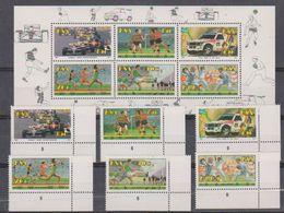 South Africa 1992 Sports 6v (corners) + M/s ** Mnh (38599) - Zuid-Afrika (1961-...)