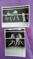 PHOTO BOXE : 2 Photos Combat - Boxing