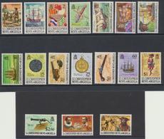 St Christopher -  Saint Christophe 1970 Definitives - Série Courante 1/2c Au $5  + $10 ( 1974 )   ***  MNH - St.Christopher-Nevis-Anguilla (...-1980)